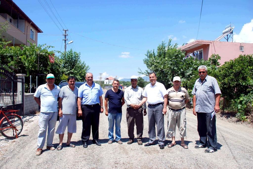 DSC 0037 - Dalaman'da 43 yıl sonra asfaltlama çalışması