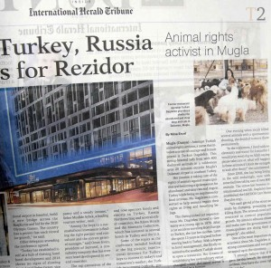 OKUN0001 55 - Dağdelen, International Herald Tribune'de