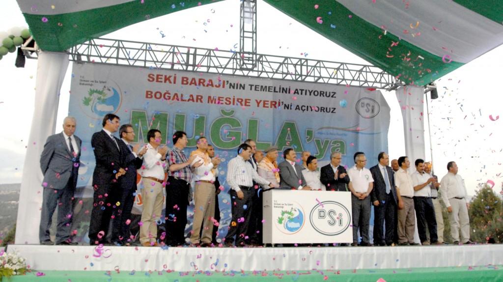 OKN0115 - Orman ve Su İşleri Bakanı  Prof. Dr. Veysel Eroğlu Muğla'da