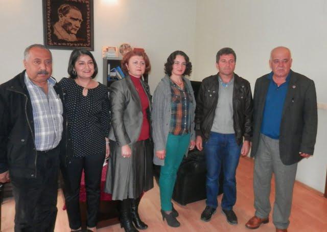 Türkiye birincisi Ortacalı çift  Başkan Hasan Karaçelik'i ziyaret etti