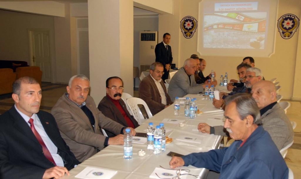 OKN 0231 - Ortaca'da seçim güvenliği toplantısı