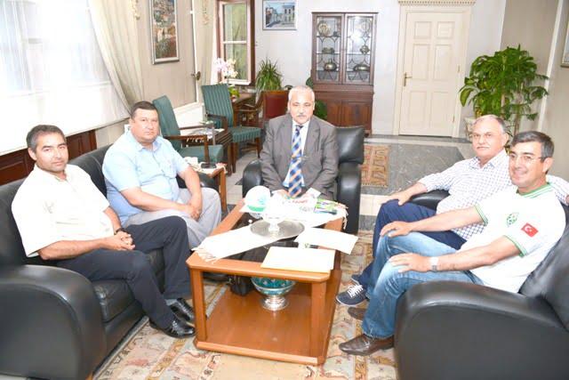 Kooperatif Başkanları  Muğla Valisi Güvençer'i ziyaret etti