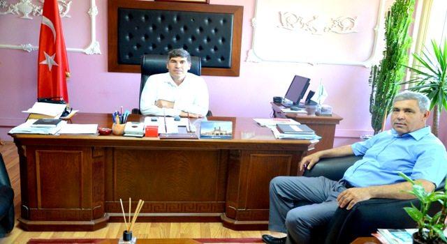 Başkan Muhammet Şaşmaz'dan  Cezaevi Müdürü'ne ziyaret