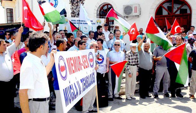 İsrail, Köyceğiz'de protesto edildi