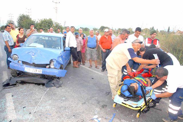 Ortaca'da trafik kazası 1 ölü 2 yaralı