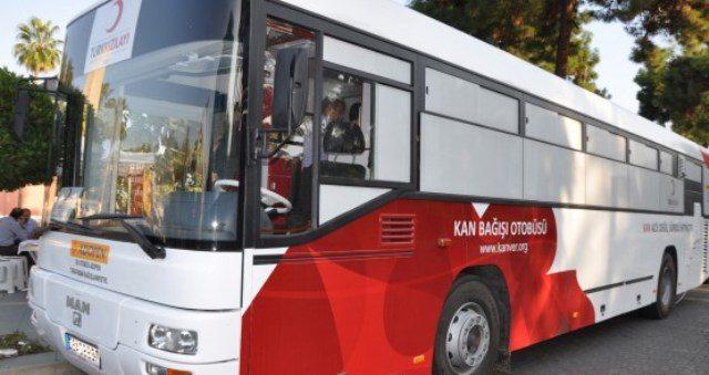 """Kızılay """"Kan Bağış Otobüsü"""" Ortaca'da"""