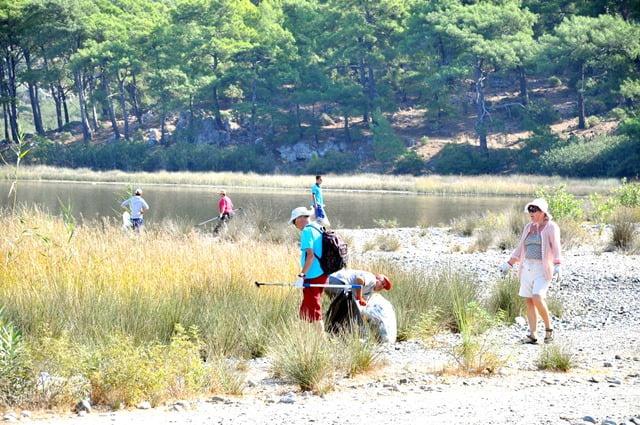 İztuzu Plajı'nda çevre temizliği