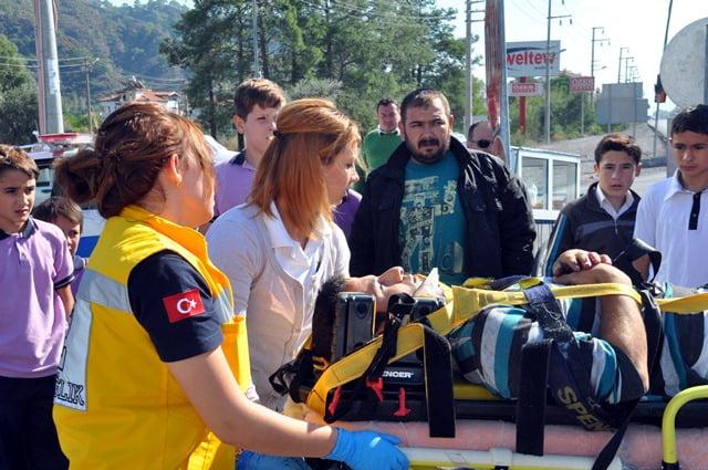 Ortaca'da trafik kazası: 1 yaralı
