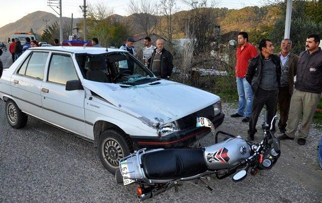 Ortaca'da Trafik Kazası, 2 Yaralı