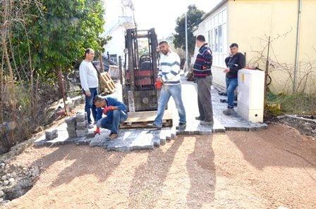 Dalaman Belediyesi'nde parke çalışmaları devam ediyor