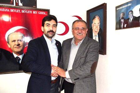 Ramazan Kıvrak MHP İlçe Başkanına Ziyaret Etti