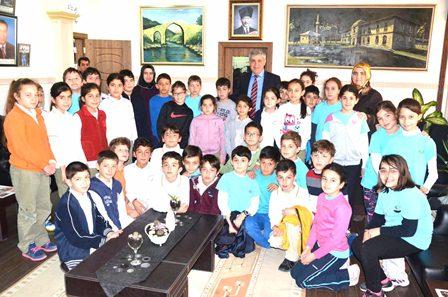 Burç Meltem'den Başkan'a ziyaret