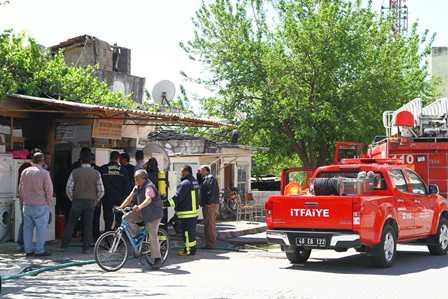 Ortaca'da iş yeri yangını
