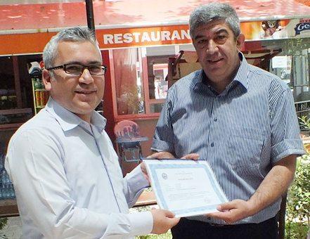 Erhan Karakuş'a veda yemeği