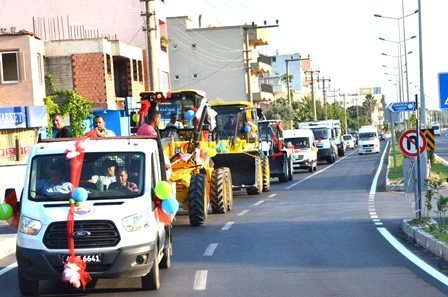 Dalaman Belediyesi yeni araçlarını tanıttı