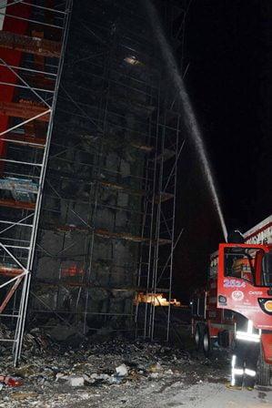 Ortaca Devlet hastanesi inşaatında yangın
