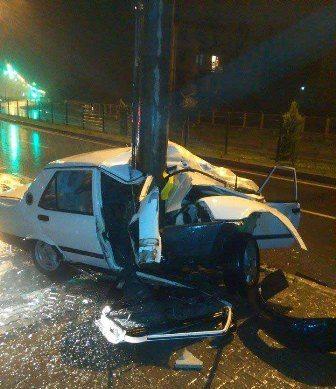 Kazada mücize eseri kurtuldu