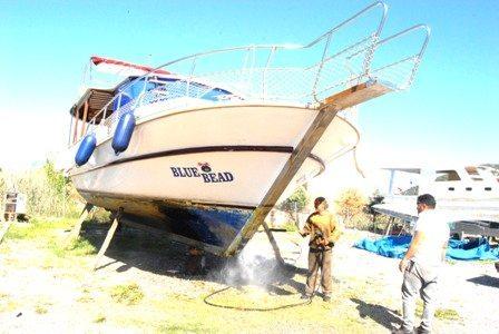 Dalyan'da teknecilerin sezon hazırlığı