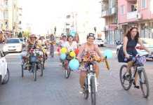Dalaman'da Süslü Kadınlar Bisiklet Turu
