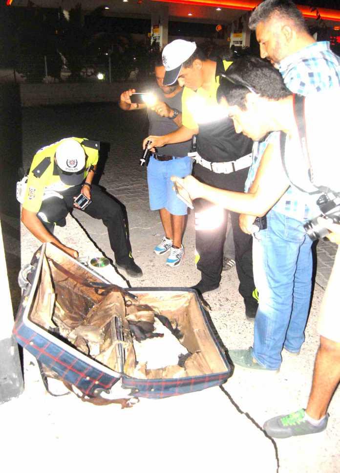 Ortaca'da şüpheli valiz  fünyeyle patlatıldı