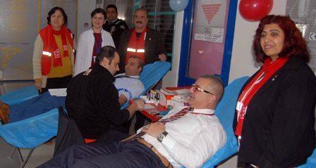Dalaman'da Sağlıkçalışanlarından kan bağışı