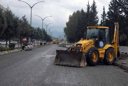 Ortaca Atatürk bulvarı yenileniyor