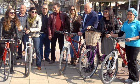 Bisiklet tutkunları Ortaca'da