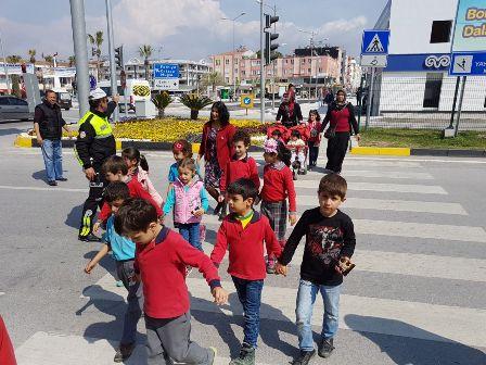 Dalaman'da Öğrencilere Trafik eğitimi