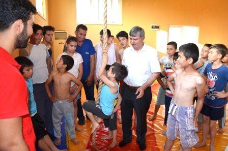 """DSC 0096 - Çocuk ve gençlere, Ata sporu """"Güreş"""" aşılanıyor"""