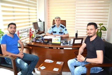 Gazetecilerden Serkan Komisere Ziyaret