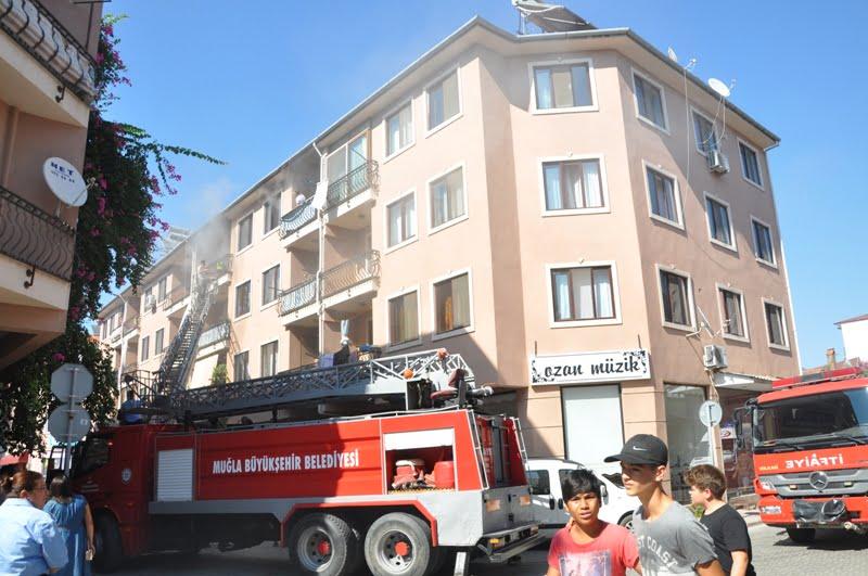 DSC 0021 - Dalaman'da ev yangını